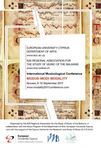 Modus-modi-modality-International Musicological Conference